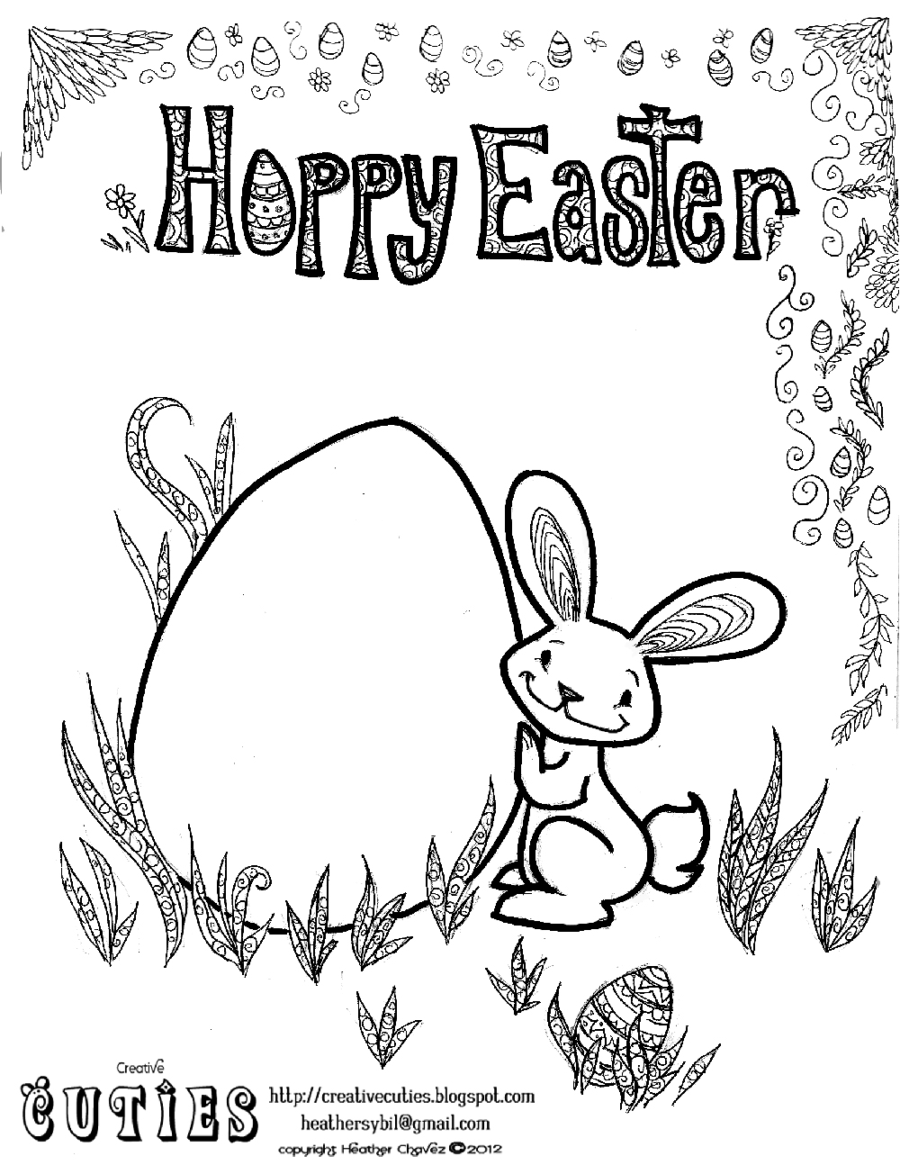 heather chavez easter bunny coloring page