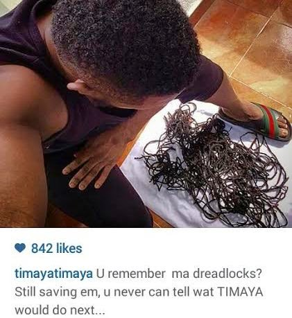 unnamed Photo: Timaya still saving the dreadlocks he shaved off 3 years ago