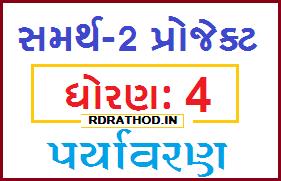 STD 4 Paryavaran Samarth 2 Project for Online Shikshak Talim