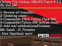 Option File PES 2017 untuk SMoKE Patch 9.7.2 update 7/5/2018