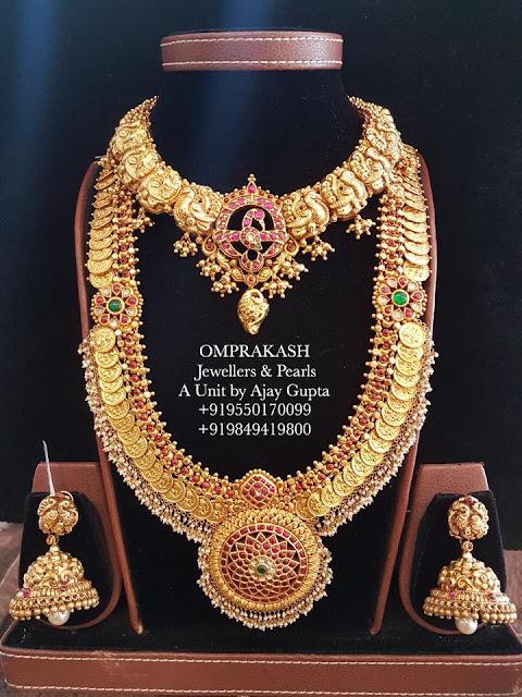 Kasu Mala Designs by Omprakash Jewellers
