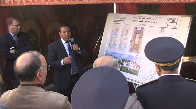 زيارة تفقدية لمشروع بناء المركز الصحي الحضري الحي الحسني 2 و كذا المركز المرجعي للصحة الإنجابية ببرشيد