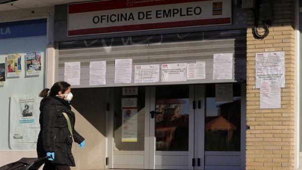 Coronavirus aumenta crisis del desempleo en España