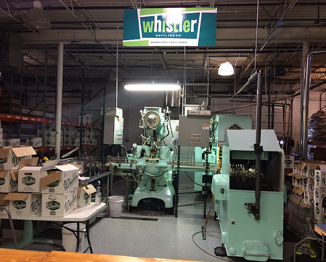 Whistler bottling at Blue Sun Soda Shop
