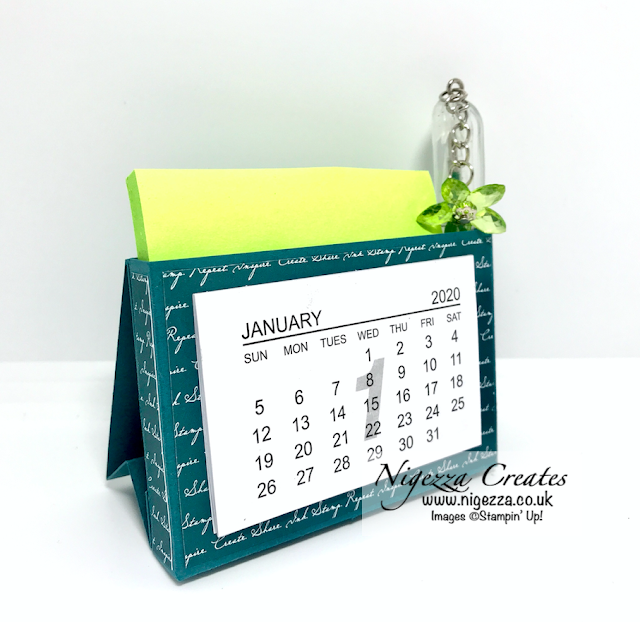Nigezza Creates With Stampin' Up! Desk Top Calendar Post It & Pen Holder