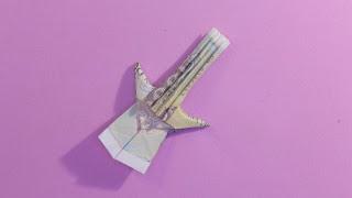 easy money origami guitar gấp cây đàn bằng tiền giấy