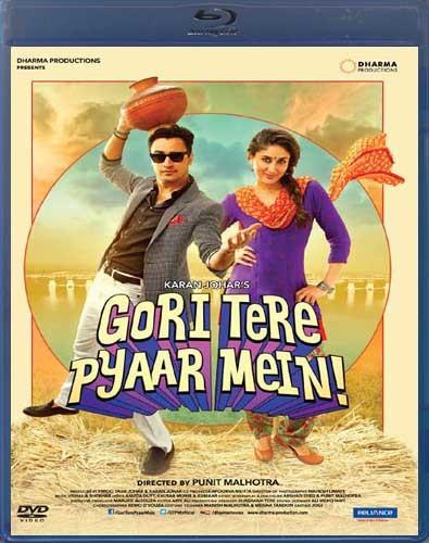Poster Of Gori Tere Pyaar Mein 2013 Hindi 400MB BRRip 480p ESubs Free Download Watch Online