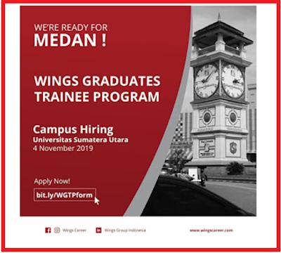 Rekrutmen Kerja Medan November 2019 PT Wing Surya