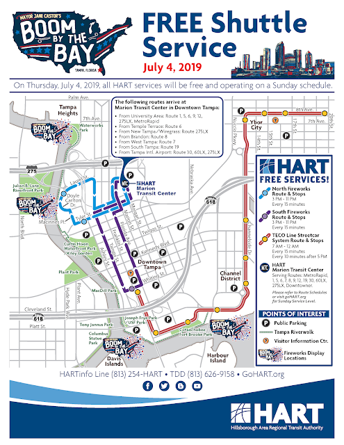 Boom by the Bay transit service map