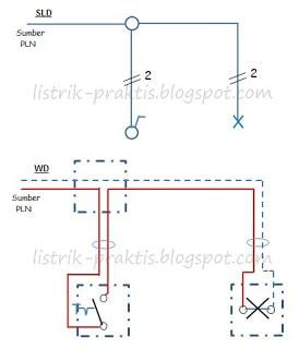 Instalasi listrik rumah dengan memahami wiring diagram listrik praktis instalasi saklar tunggal satu lampu cheapraybanclubmaster Choice Image