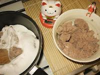 Mélange pâte de haricot rouge azuki et sucre