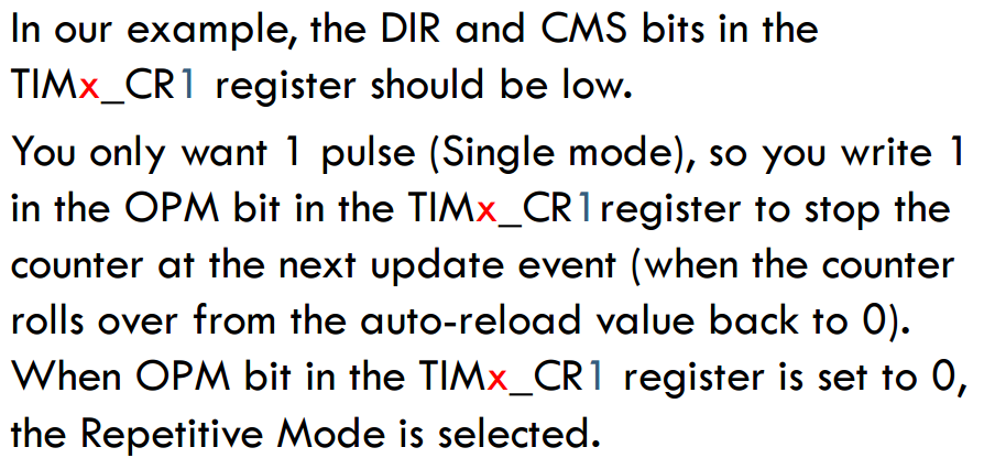 ARM Cortex STM32: STM32 Timer One Pulse Mode