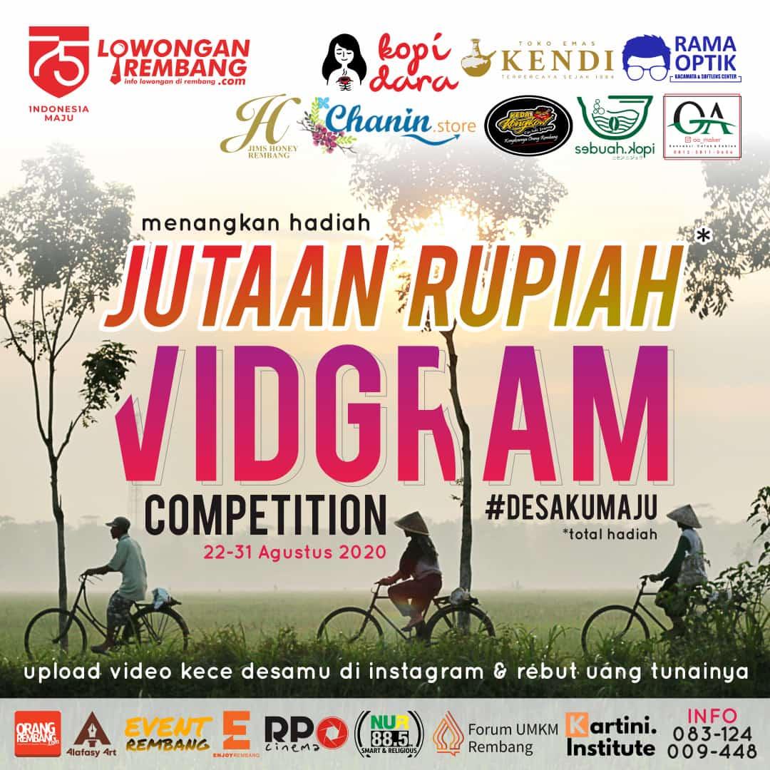 GRATIS JUTAAN RUPIAH Untukmu Para Juara Vidgram Competition Dan Karyamu Pantas Jadi Kebanggan Desamu