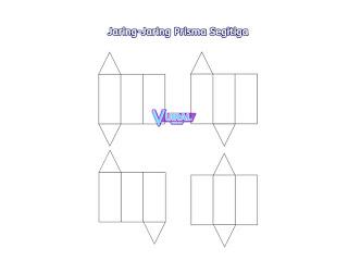 Contoh Gambar Jaring-Jaring Prisma Segitiga