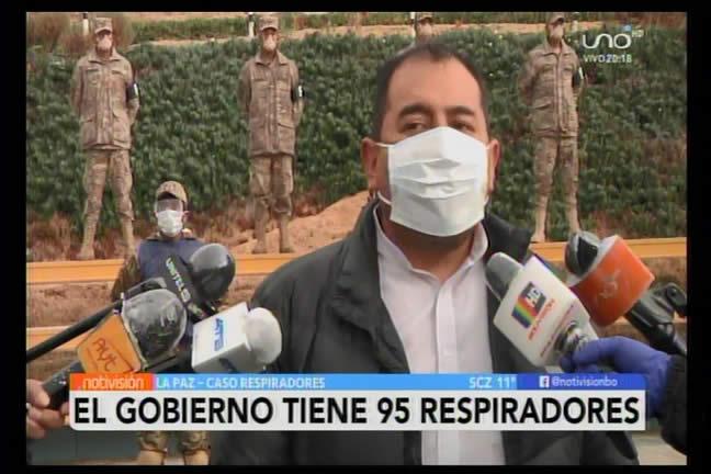 Gobierno asegura que se tiene los 95 respiradores; pide al MAS informarse y no especular
