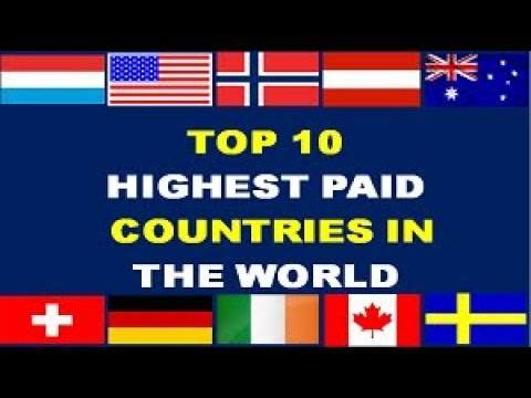 According to work, which countries get the highest salary in the world?