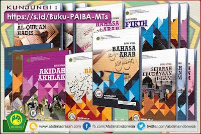 Buku Pelajaran PAI dan Bahasa Arab jenjang Madrasah Tsanawiyah (MTs) Sesuai KMA Nomor 183 Tahun 2019