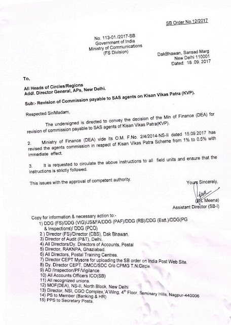 Sb Order No 122017 Revision Of Commission Payable To Sas Agents