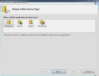 Select Database in configuration wizard