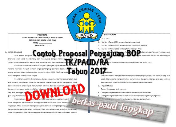 Download Contoh Proposal BOP PAUD Tahun 2016-2017 Terbaru Lengkap