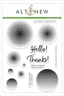 Altenew Halftone Circles Stamp Set