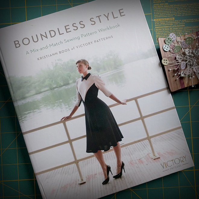 "Sewing a pattern from ""Boundless Style"" is a 2017 sewing goal."