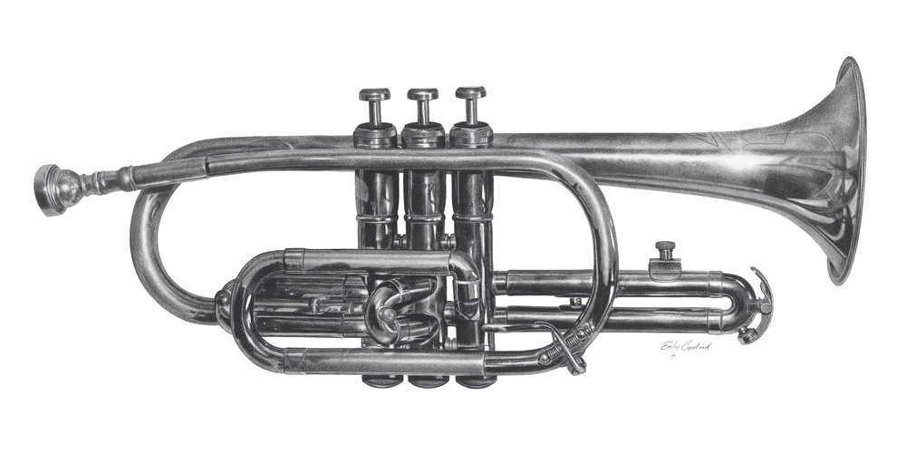 08-Trumpet-Emily-Copeland-Vintage-and-Retro-Objects-in-Photo-Realistic-Drawings-www-designstack-co