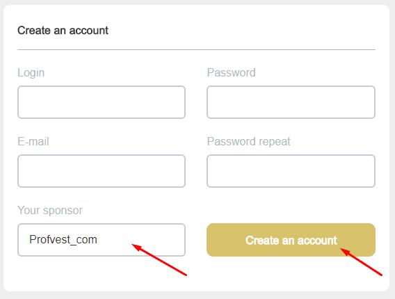 Регистрация в GoldenSeed 2