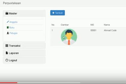Codeigniter - Download Source Code Gratis Aplikasi Managemen Perpustakaan Sederhana Menggunakan Codeigniter