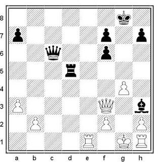 Posición de la partida de ajedrez Bernardo Wexler - Osvaldo Manuel Bazan (Mar del Plata, 1960)