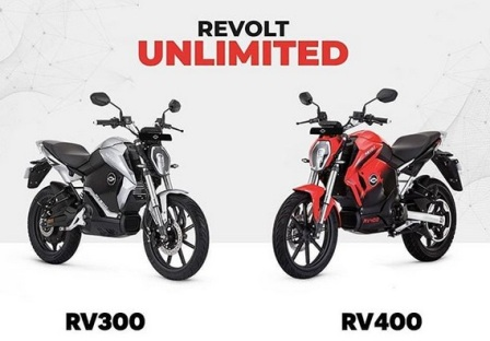 Revolt bike price in India,Revolt RV 400 and Revolt RV 300 electric bike launch, buy for Rs 2999* & 3999*