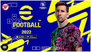 Download eFootball PES 2022 PPSSPP Mobile Camera PS5 New Kits And Latest Transfer & New Extreme Difficulty by ngopigames