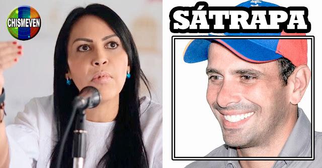 Delsa Solórzano considera a Capriles un Sátrapa tras traicionar a la oposición