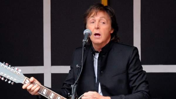 Paul McCartney en un concierto en Nueva York