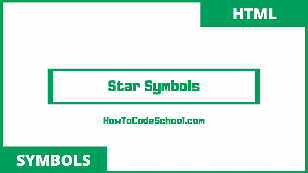 star symbols html codes and unicodes
