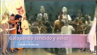 """Pasodoble con Letra """"Galopando tendido y veloz"""". Comparsa """"Caballos Andaluces"""" (1987)"""