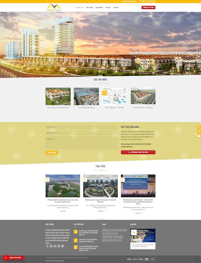 Mẫu website Bất động sản VinTech