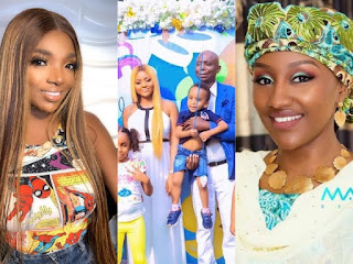 Actress Regina Daniels And Hubby, Ned Nwoko, Name Annie Idibia And Halima Buhari As Godmothers Of Their Son, Munir (WATCH VIDEO)