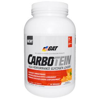 كاربوتين من شركة قات الامريكية الالمانية.بديل للفيجارتو vigarto !   GAT, Carbotein, High Performance Glycogen Loader, Orange, 3.85 lbs (1.75 kg)