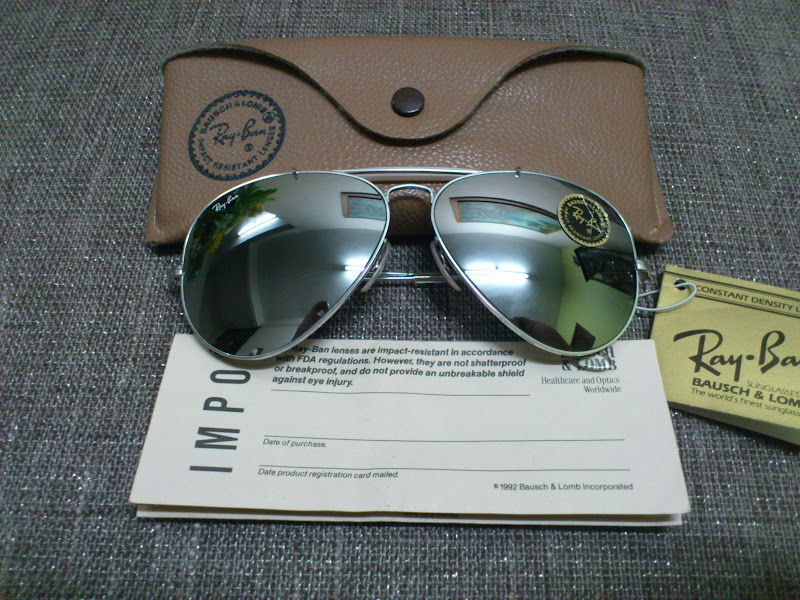 48ae086b07 (SOLD)NOS Ray Ban Outdoorsman II White Gold G-31 DGM Lenses(SOLD)