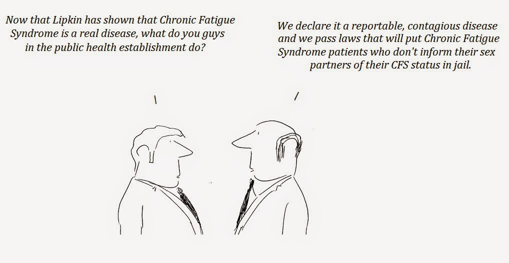 lipkin, columbia university, transmission, contagiousness, fauci, cfs, chronic fatigue syndrome, cartoon