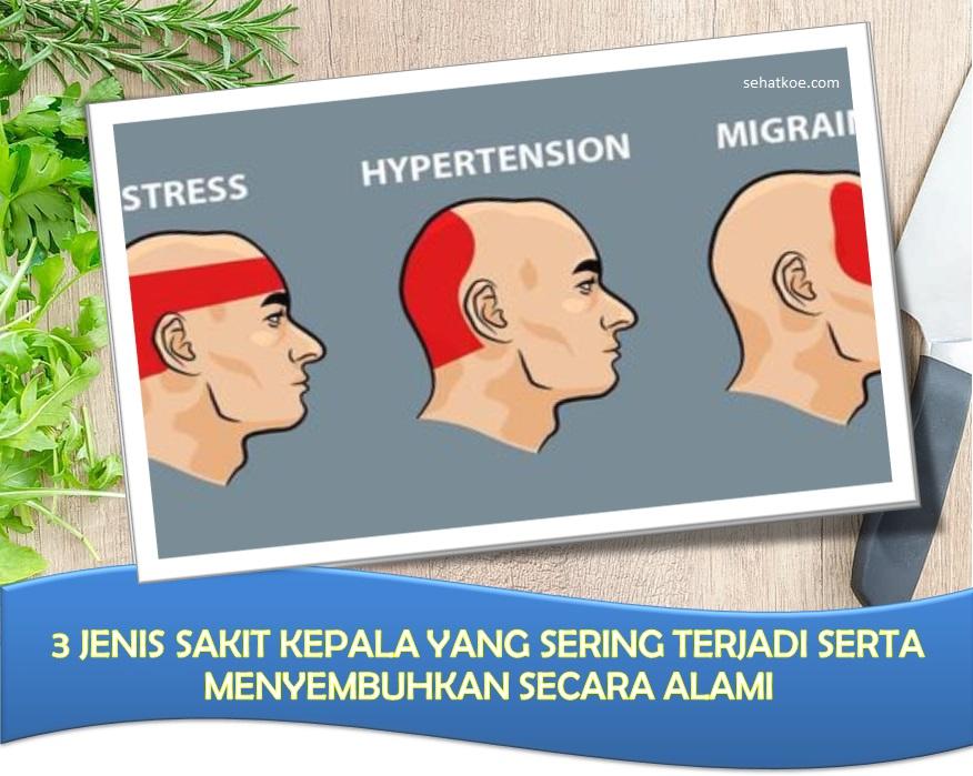 3 Jenis Sakit Kepala Umum Terjadi Sembuh Alami Tanpa Obat