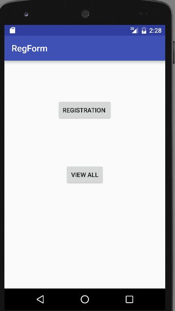 registration form android