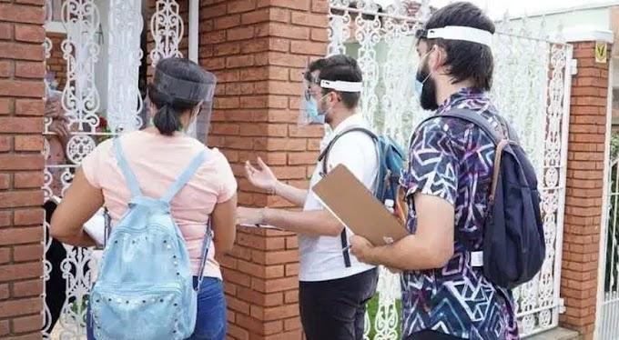 Agentes comunitários de saúde fazem cadastramento da população em Caieiras