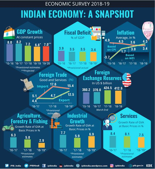 Economic Survey 2018-19 (Indian Economy - A Snapshot)