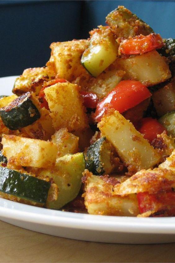 Zucchini and Potato Bake #Easyrecipe #Zucchini #Potato #Bake #Nobake #Dinnerrecipe #breakfast #Lunch #Deleciousrecipe #Vegan #Garlic