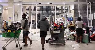 South Africans on Saturday cleaned up shopping centres