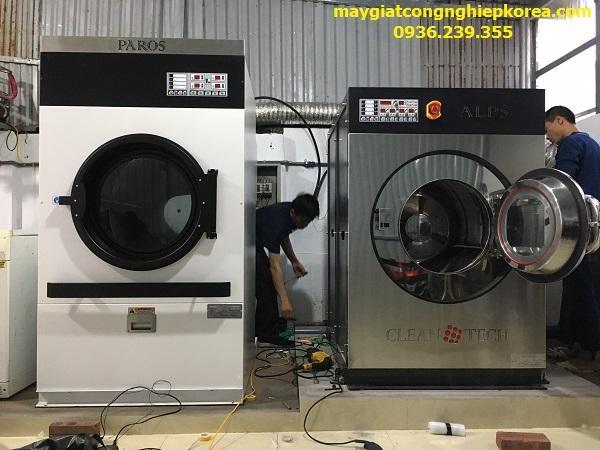 lắp đặt máy móc cho xưởng giặt công nghiệp