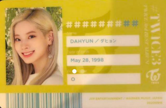 TWICE 3 Dahyun ID