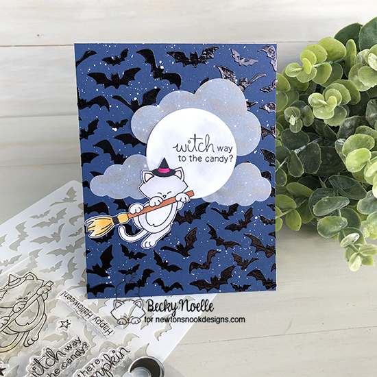 Witch way to the candy by Becky features Newton's Boo-tiful Night and Flying Bats by Newton's Nook Designs; #newtonsnook